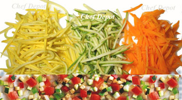 How to Julienne and Diced cut vegetables with a Mandoline