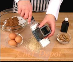 Microplane Grater Attachment in use