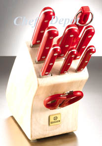 Mundial Red Knife Block Set