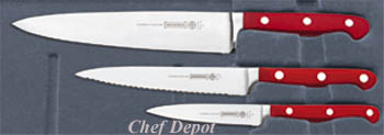 Mundial Red Forged Cutlery Set