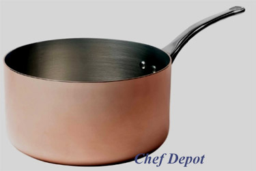 Heavy Duty Copper and Stainless Steel Fry SaucePan
