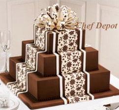 Chocolate layered Wedding Cake Ideas