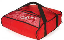 Heavy Duty Red Insulated Pizza Bag