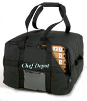 Heavy Duty Black Insulated Pizza Bag
