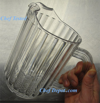 Cambro Soda Pitcher for serving beer soda and water
