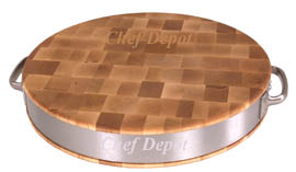 Chef Depot & John Boos Exclusive Round Chopping Block