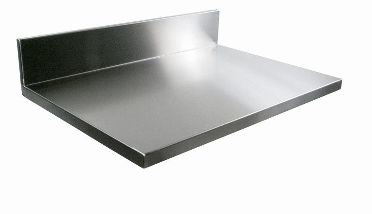Kitchen Stainless Steel Counter Top - with backsplash