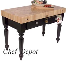 Cucina Rustica Table with black base