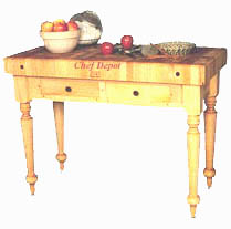 Cucina Rustica Table without shelf