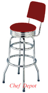 Red Swivel Bar Stool