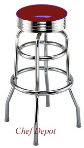 Red Swivel Bar Stool