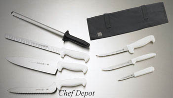 Mundial Stamped White Chef Set