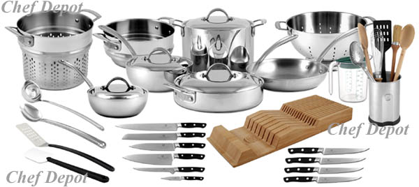 Pot Pan Sets Cookware Stock Pots Professional Calphalon