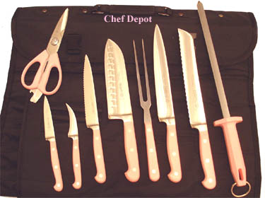 Mundial Forged Pink Knife Set On Sale
