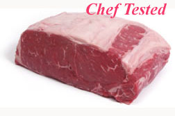 Top view of quality Beef Strip Loin