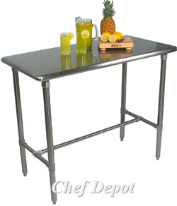 cucina classico stainless steel table - Kitchen Prep Table Stainless Steel