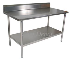 Cucina Tavolo Stainless Steel Table - with riser (backsplash)
