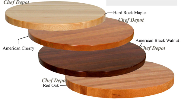 round butcher block table - Maple Kitchen Table
