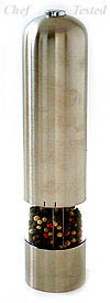 Battery Powered Pepper Mill - Solid Stainless Steel
