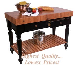 Le Rustica Table In Lyptus Cherry With Lower Shelf