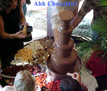 One of Our Chocolate Fountains at a Party