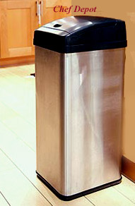 Stainless Steel touchless garbage can