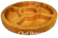 Chop & Serve Round Maple Cutting Board