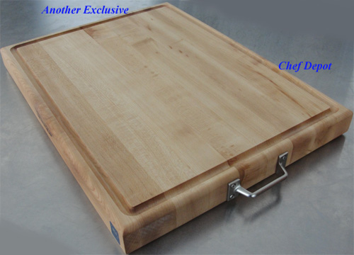 chef depot maple cutting board with handles - Boos Cutting Board