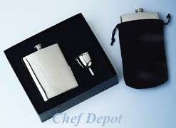 Stainless Steel Flask and Funnel Gift