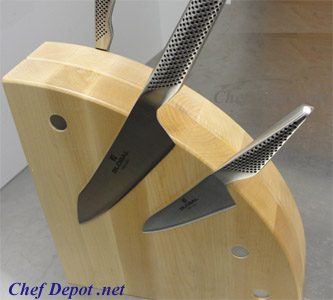 Wooden Designer Magnetic Wood Knife Block