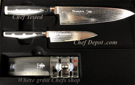 Yaxell 101 layered Damascus Knife Set, Handmade in Seki City Japan