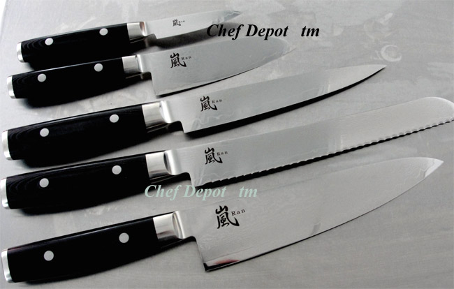 Yaxell Damascus Knife Set, Handmade in Seki City Japan