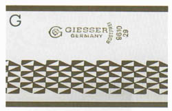 Giesser Etched Cheese Knife