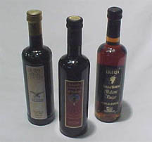 A trio of Three Balsamic Vinegars