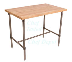 john boos chef depot breakfast bar table - Kitchen Prep Table Stainless Steel